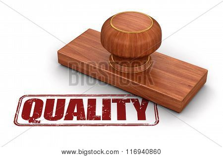 Stamp Quality.  Image with clipping path