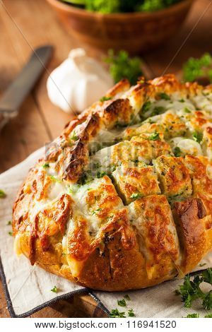 Homemade Cheesy Pull Apart Bread