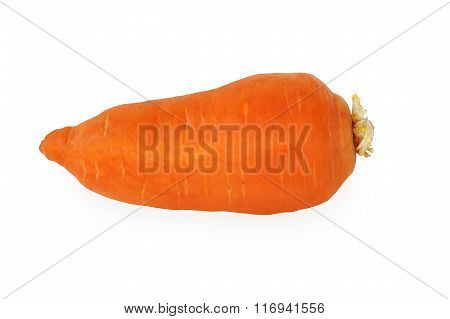 Carrots Closeup Isolated On White.