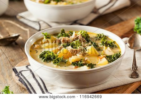 Homemade Warm Creamy Tuscan Soup