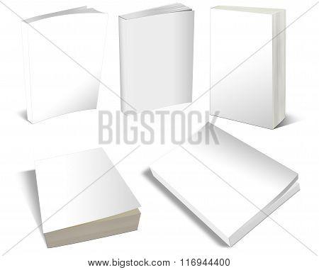 Blank White Books Templates