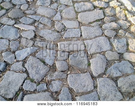 Old Bulgarian stone pavement