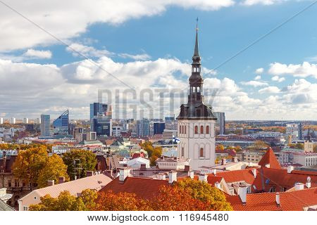 Tallinn. View of the town from the hill Toompea.