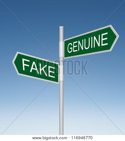Fake and Genuine Road Signs