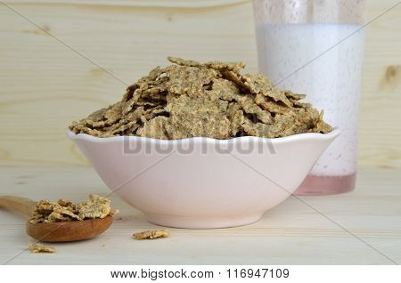 Meal Of Muesli And Milk