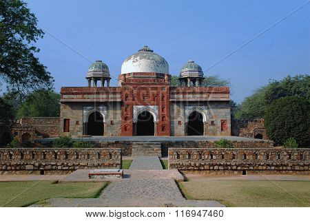 Delhi. The tomb of subservient part of the Humayun's Tomb in Interpretation Centre.