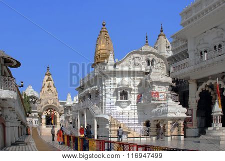 Delhi. One of the temple of the Hindu complex Chattarpur mandir