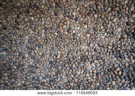 Background Of Small Gravel Stone Texture