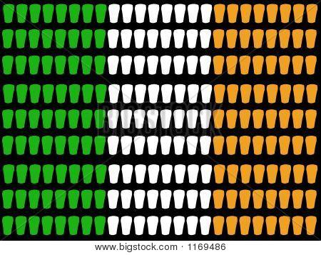 Pint Glass Irish Flag