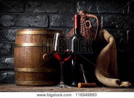 Wine in cellar