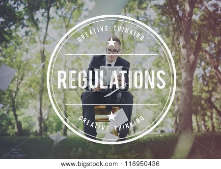 Regulations Instruction Legal Law Rules Standard Concept