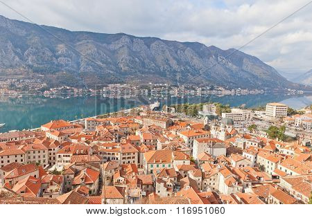 View Of Old Town And A Bay Of Kotor, Montenegro