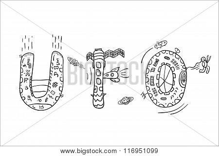 Hand Drawn Ufo Abbreviation
