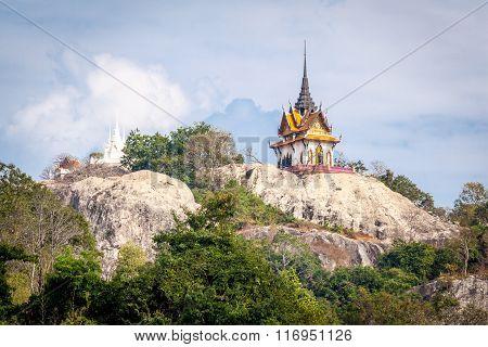 Wat phra phuttha chai Saraburi,The temple on the top of the mountain ,Saraburi Province ,Thailand
