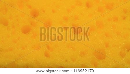 Abstract Texture Of Yellow Foam Rubber
