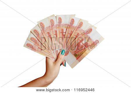 Money in man's hand