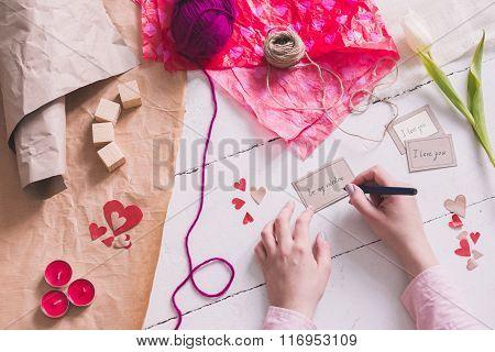 Writing Love Card