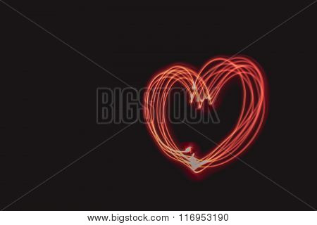 Red Heart From Light