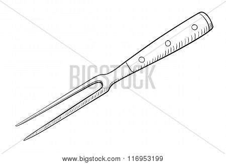 Serving Fork Illustration