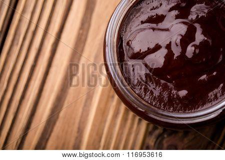 Natural diy homemade chocolate jam