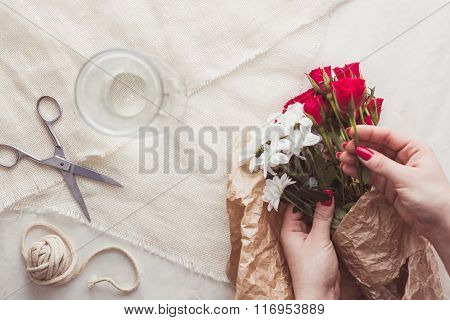 Making Special Bouquet