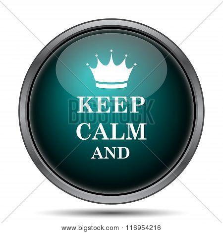 Keep Calm Icon