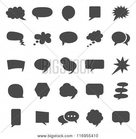 Speech Bubble black icons set.Vector
