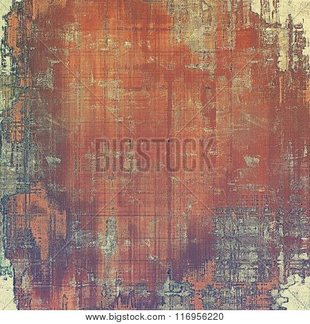 Vintage texture with space for text or image, grunge background. With different color patterns: yellow (beige); brown; red (orange); purple (violet); gray