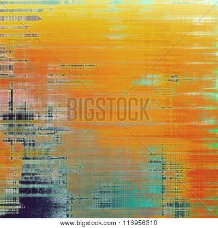 Abstract textured background designed in grunge style. With different color patterns: yellow (beige); red (orange); blue; green; cyan