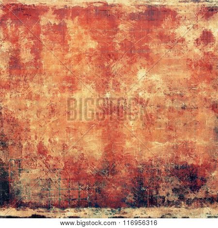 Grunge old-fashioned background with space for text or image. With different color patterns: yellow (beige); brown; red (orange); black; pink
