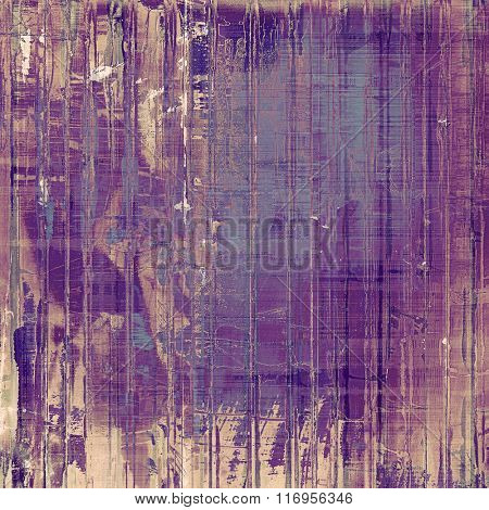Vintage antique textured background. With different color patterns: yellow (beige); brown; blue; purple (violet); pink
