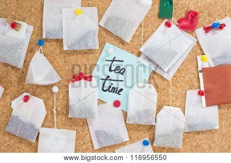 Tea Bags Hanging