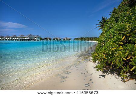 Water Bungalows Of Maldivian Resort