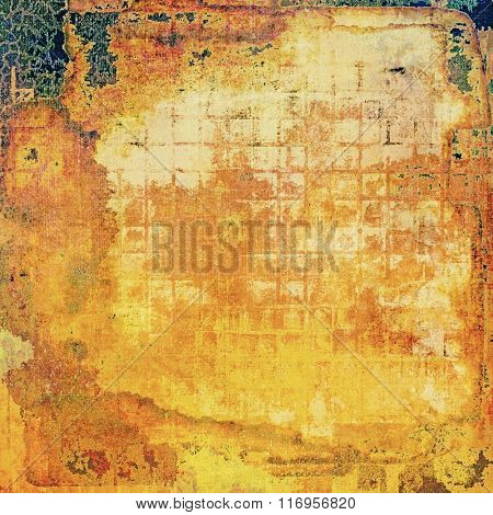 Abstract grunge textured background. With different color patterns: yellow (beige); brown; red (orange); blue