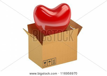 Red Heart In The Box