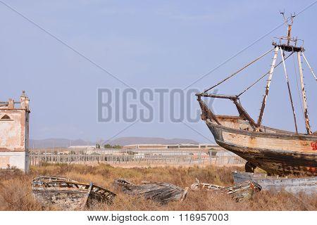 Abandoned Old  Ship