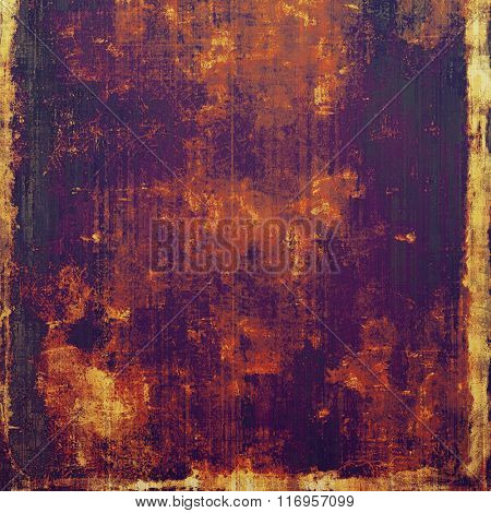 Vintage antique textured background. With different color patterns: yellow (beige); brown; red (orange); black; purple (violet)
