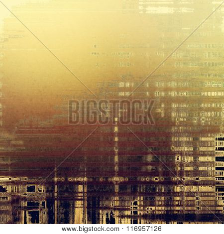 Old antique texture or background. With different color patterns: yellow (beige); brown; black; purple (violet); gray