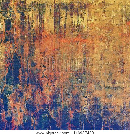 Old texture - ancient background with space for text. With different color patterns: yellow (beige); brown; red (orange); blue; purple (violet)