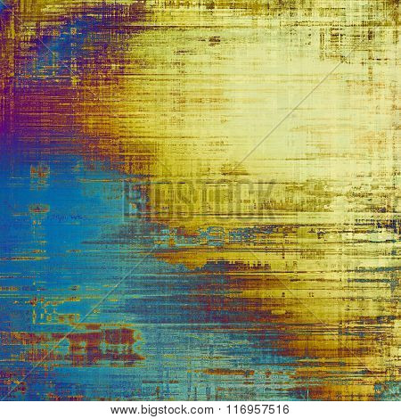 Rough grunge texture. With different color patterns: yellow (beige); brown; blue; purple (violet); cyan