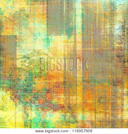 Background with grunge stains. With different color patterns: yellow (beige); brown; red (orange); blue; green