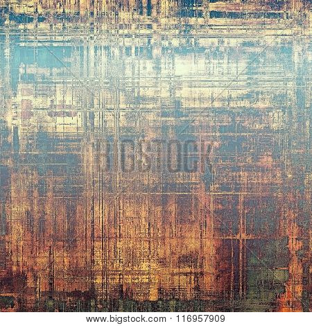 Grunge old-fashioned background with space for text or image. With different color patterns: yellow (beige); brown; red (orange); blue; gray