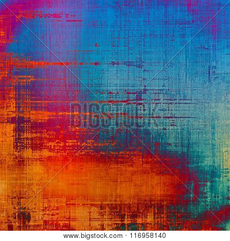 Old background with delicate abstract texture. With different color patterns: yellow (beige); red (orange); blue; purple (violet); pink