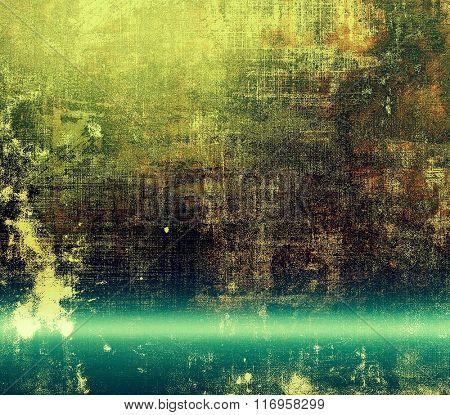 Grunge retro vintage textured background. With different color patterns: brown; black; blue; green; cyan