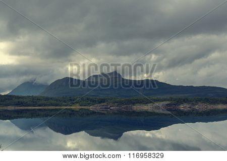 Landscapes of Norwegian sheer cliffs