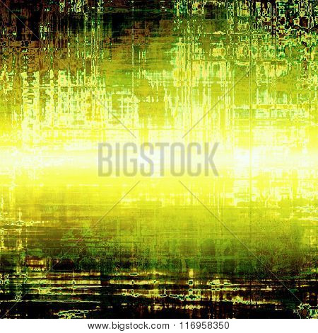 Abstract textured background designed in grunge style. With different color patterns: yellow (beige); brown; white; black; green