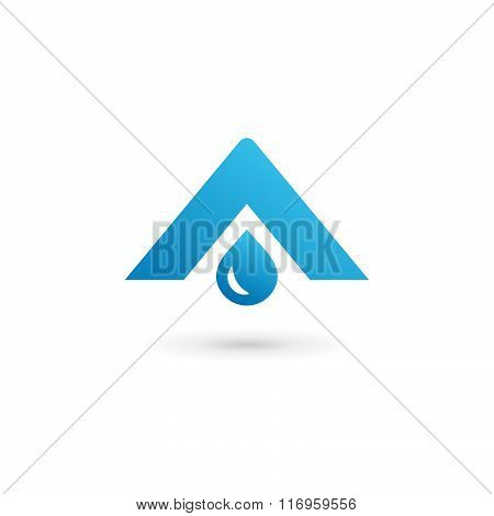 Letter A Water Drop Logo Icon Design Template Elements