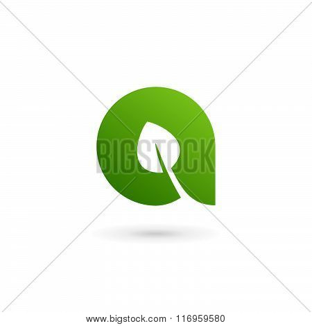 Letter A Eco Leaves Logo Icon Design Template Elements
