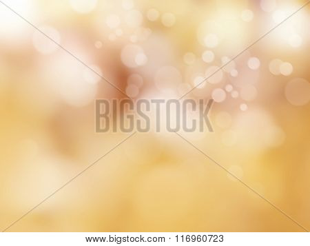 Yellow background abstract with soft blurred bokeh lights