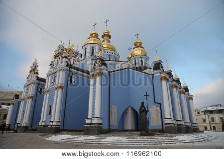 St. Michael's Golden-Domed Monastery is a functioning monastery in Kiev, the capital of Ukraine